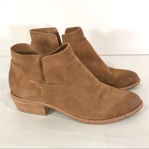 Dolce Vita Suede Leather Camel Colored Booties